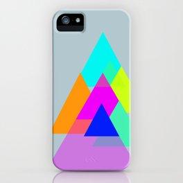 Triangles - neon color scheme series no. 1 iPhone Case