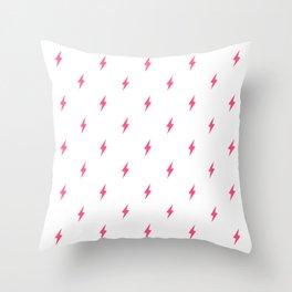 Lightning Bolt Pattern Pink Throw Pillow