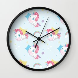 Unicorn Patterns Wall Clock