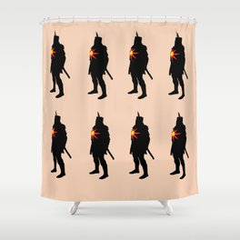 Grossly Incandescent Shower Curtain