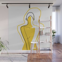 Sun Kissed Shy Girl Wall Mural