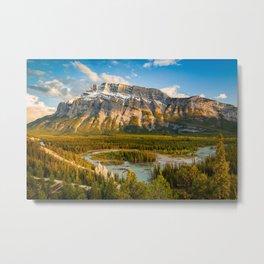 Mount Rundle at Sunset – Banff, Canada Metal Print