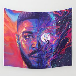 Man On The Moon III Poster Print Wall Tapestry