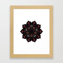 Lotus flower mandala in soft pastel colors Framed Art Print