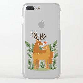 Deer Love Clear iPhone Case