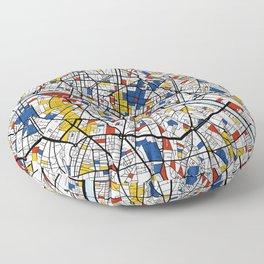 Paris Mondrian Floor Pillow