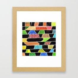Black versus Color Framed Art Print
