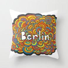 Berlin Bubbles Throw Pillow