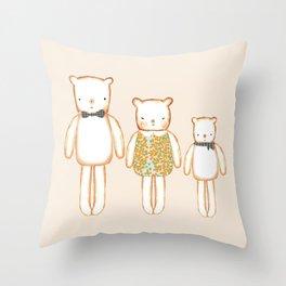 3 Bears Throw Pillow