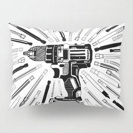 Art Power Tools Drill Bit Set Doodle Pillow Sham