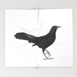 Great-tailed grackle Throw Blanket