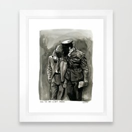 once you had a best friend Framed Art Print