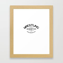 Wrestling Society Co Framed Art Print