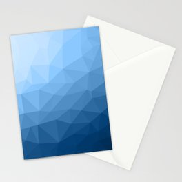 Classic Blue geometric mesh ombre pattern Stationery Cards