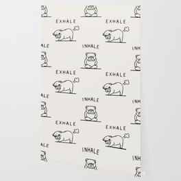 Inhale Exhale English Bulldog Wallpaper