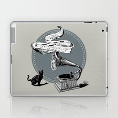 The Cat and the Song Cat (black and white) Laptop & iPad Skin