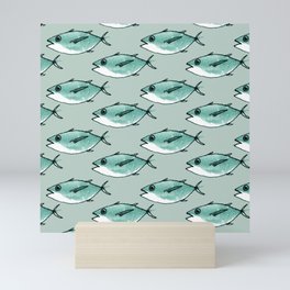 Shoal of bluefin tuna Mini Art Print