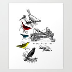 Etude - Angry Birds Art Print