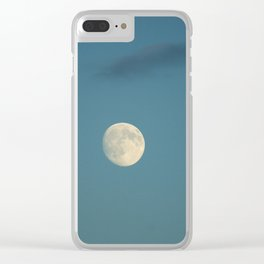 Moon in the sky Clear iPhone Case
