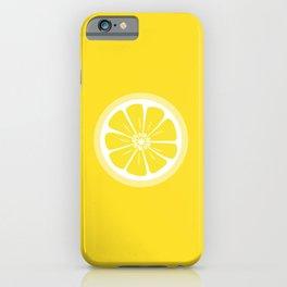 Lemon Fruit Slice Summer Fun iPhone Case