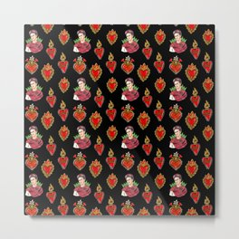 Sacred Hearts and Frida Metal Print