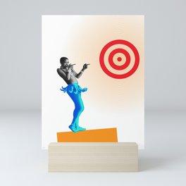 Josephine aims at the target Mini Art Print