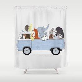 a musical road trip shower curtain - Musical Shower Curtains