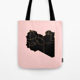 Libya map Tote Bag