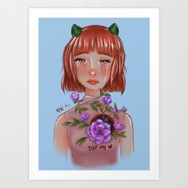 stop my heart Art Print