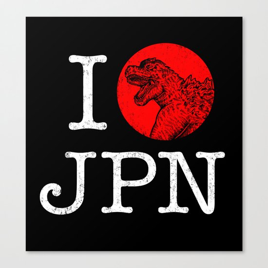 I Love Japan Canvas Print