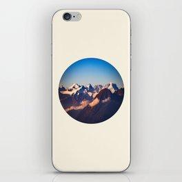 Himalayan Snow Mountains Round Photo iPhone Skin