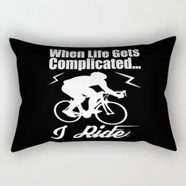 Cycling Race Rectangular Pillow