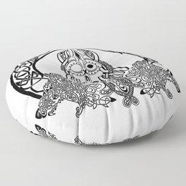 Odin, Ravens and Wolves Floor Pillow
