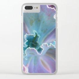 Ruffled Succulent Clear iPhone Case