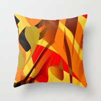 spice Throw Pillows featuring pumpkin spice by David Mark Lane