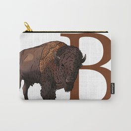 B for Bison Carry-All Pouch