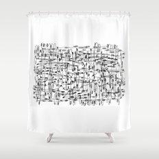wires, nodes Shower Curtain