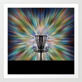 Disc Golf Basket Silhouette Art Print