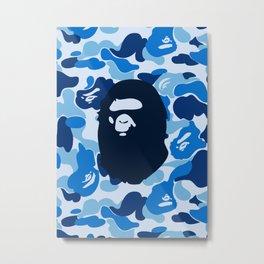 Hypebeast ape Camo Pattern Metal Print