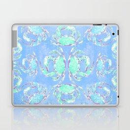 Watercolor blue crab Laptop & iPad Skin