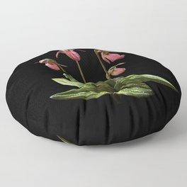 Pink Lady's slipper clump Floor Pillow