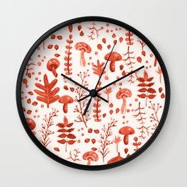 Autumn Reds Wall Clock
