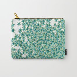 Blue and Yellow Forget Me Knots Carry-All Pouch