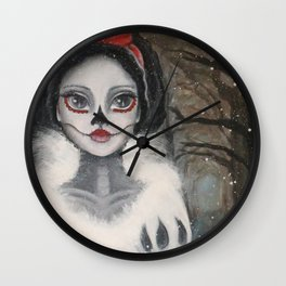 """Skin as white as snow . . ."" Wall Clock"