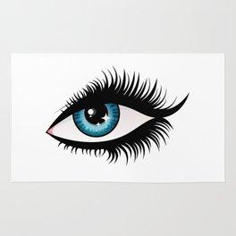 Blue fem eye Rug