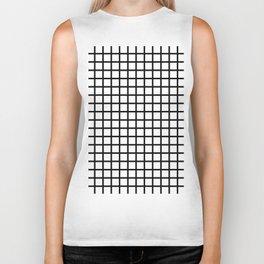 Grid (Black & White Pattern) Biker Tank