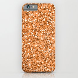 Abstract geometric rose gold glitter pattern iPhone Case