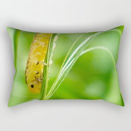Magic Grass - Caterpillar - Macro Rectangular Pillow