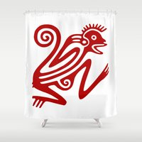 monkey Shower Curtains featuring Monkey by Fernando Vieira