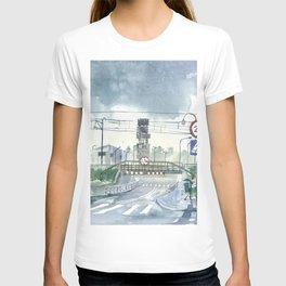 Level crossing in Radomsk T-shirt
